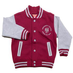 Children's burgundy UCD Varsity Jacket
