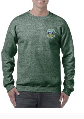 Heather Green Lightweight Crew Neck